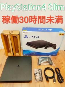 稼働30時間未満 PlayStation4 Slim 500GB ジェットブラック プレイステーション4 PS4
