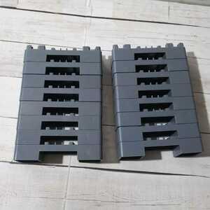 プラレール「ミニブロック 灰色 16個」橋脚 グレー