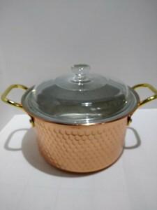 銅製両手鍋、熱伝導率がいいので時短クッキングになるかもしれませんね!