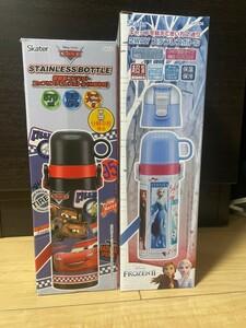 新品 ステンレスボトル 2way ステンレス水筒 子供用 超軽量 保温保冷 ディズニー 2個セット