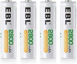 超安値!単3電池2800mAh 4本パック EBL 単3形充電池 充電式ニッケル水素電池2800mAh 4本入り ケースMDEZ