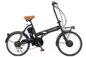 1円スタート! 20インチ折りたたみ 電動アシスト自転車 AIJYU CYCLE パスピエ20R マットブラック リチウム 24V5.2Ah シマノ外装6段変速