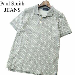 Paul Smith JEANS ポールスミス ジーンズ ドット柄★ 半袖 ポロシャツ Sz.M メンズ グレー A1T08249_7#A