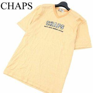 CHAPS チャップス ラルフローレン ロゴパッチ★ 半袖 Vネック カットソー Tシャツ Sz.LL メンズ 大きいサイズ A1T08787_7#D