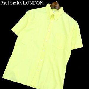 Paul Smith LONDON ポールスミス ロンドン 半袖 ボタンダウン シャツ Sz.L メンズ 黄 A1T09031_7#A