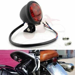 S-330 【カラー5種類】オートバイ 12V LED 調節可能 カフェレーサースタイル ブレーキリアランプ チョッパー用テールライト