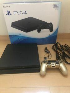 PS4 PlayStation4 ジェットブラック PS4本体 CUH-2200AB01 付属品