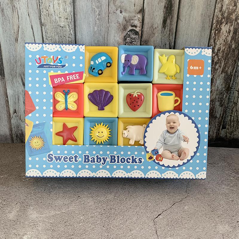 積み木 音 柔軟 無毒 新生児 知育 パズル お風呂玩具 組み立て