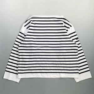 outil TRICOT AAST ウティ バスクシャツ 1 WHITE / BLACK