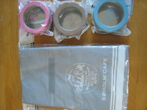 スーホルムカフェ マグネット缶ケース 全3種 保冷マルシェバッグ セット BOSS 保冷バッグ 磁石 冷蔵庫に