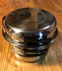 燻製器 蒸し器 フライパン 鍋 4特セット ソロキャンプ コンパクト