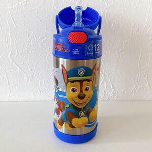 水筒 パウパトロール サーモス 真空断熱 ストロー パウパト 弁当 F410 ストローボトル