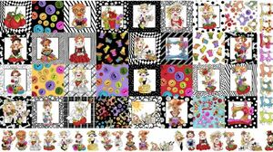 ロラライハリス生地 Medley Sew Curious Fabric Panel