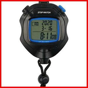【送料無料-特価】 8.3×6.4×2.1cm TS-S114-BK ストップウォッチ 200メモリー G1137 スプリット クレファー ブラック 機能付き タイマー