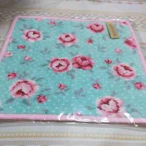 新品未開封 フェイラー FEILER タオルハンカチ シュニール織 モンプチ バラ ローズ 花柄 グリーン ピンク