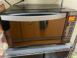 使用期間6ヶ月!! アイリスオーヤマ 電子レンジ フラットテーブル ミラーガラス 温め 解凍 ブラック MO-FM1804-B