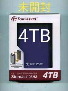 【未開封/送料込/4TB/耐衝撃】Transcend/トランセンド 4TB StoreJet 25H3 ポータブル ハードディスク