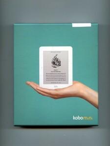 【送料込/中古美品/箱有】電子書籍リーダーKOBO mini/コボ・ミニ/N705-KJP-W ~ 希少な最小サイズのモデルです。