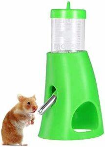 Green UEETEK ハムスター 給水器 小動物用 自動 給水器 水飲み器 水漏れ防止機能付き 便利 取り付け簡単 小動物用