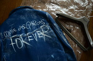 「Forever」COMME des GARCONS コムデギャルソン Lewis Leathers レザーライダースジャケット