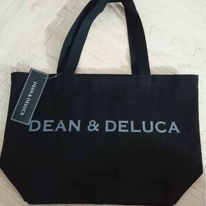 DEAN&DELUCA トートバッグ Lサイズ ロゴ ブラック