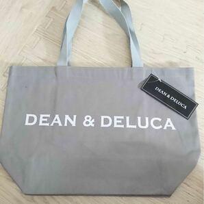 DEAN&DELUCA トートバッグ Lサイズ ロゴ グレー