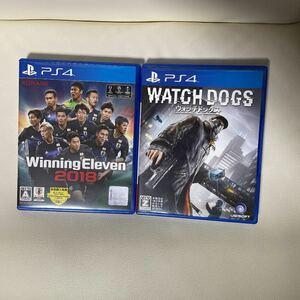 PS4ソフト ウォッチドッグス ウイニングイレブン2018