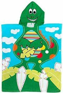 限定価格! 恐竜柄 Lサイズ(着用横60*縦70cm) OTAKUMARKET バスローブ キッズ ベビー 子供 バスポン85MI