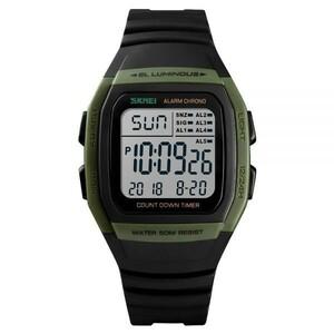 ~!狙い目!~1円から スポーツメンズ腕時計 フィットネスクロノデジタル防水腕時計 くすみ 4種類