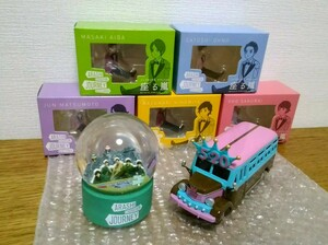 嵐を旅する展覧会 フチ子 ダイキャストカー( バス ) スノードーム