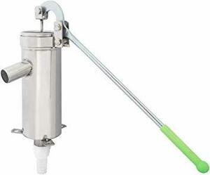 手押しポンプ Cific 井戸 手押しポンプ ステンレス 排水 取水 説明書付 中実ハンドル