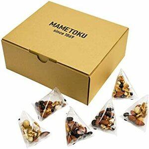 MAMETOKU(豆菓子専門店) ミックスナッツ [個包装/約600g] 5種のデイリーナッツBOX (アーモンド くるみ カシ
