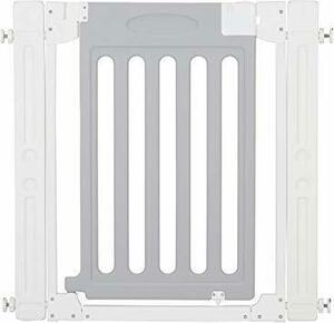 新品ホワイト&グレー カトージ ベビーゲート LDK-STYLE 追加フレーム2個付 ホワイト&グレー 67-93cZM2O