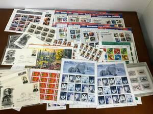 [CY44]切手 外国切手 アメリカ切手 シート おまとめ 9枚シート 10枚シート 20枚シート 他 鉄道 キャラクター他 コレクション 60サイズ