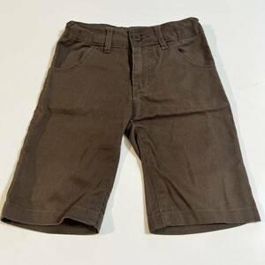男の子 焦げ茶色ハーフパンツ ショートパンツ サイズ110cm アジャスター付き 秋冬 タイツと合わせてもオシャレ ダークブラウン