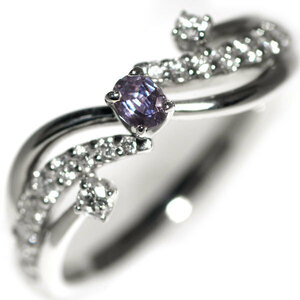 Rare PT900 Alexand Light Diamond Ring 0.10ct D0.36ct Jewelry NJ Rare