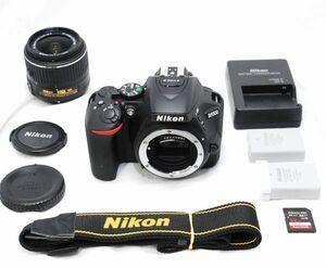 【新品級の超美品 448ショット・豪華セット】Nikon ニコン D5500 AF-S 18-55mm VR Ⅱ