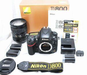 【良品・豪華セット】Nikon ニコン D800 AF-S NIKKOR 28-300mm F3.5-5.6 G ED VR