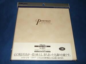 チクマ 写真台紙 ポートレート台紙(V-201)  キャビネサイズ 3面(角・角・角)1個 処分価格