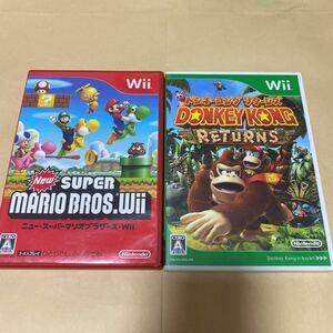 NewスーパーマリオブラザーズWiiと ドンキーコングリターンズ Wii