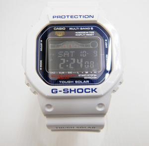 J9◇ 〈CASIO カシオ〉メンズ 腕時計 G-SHOCK ジーショック G-LIDE 電波ソーラー クォーツ GWX-5600C ホワイト (065)
