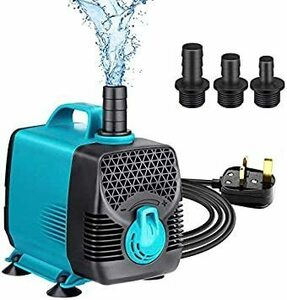 新品即決!♪ 55W 3000L/H 水中ポンプ 小型 静音 水槽循環ポンプ アクアリウム 流れ調節可能 3つノズルNLO9