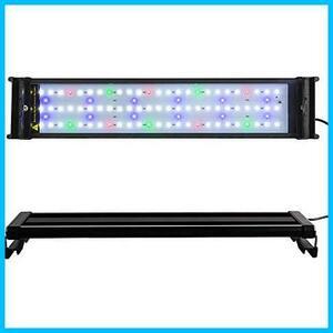 【最安】超明るい 50~70CM対応 水槽ライト 超薄い 省エネ16W 2色LEDライト NA10004 水槽照明 観賞魚飼育 アクアリウム 水草育成 90LED