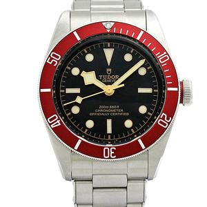 チュードル TUDOR ヘリテージブラックベイ レッドベゼル 黒文字盤 メンズ腕時計 79230R 自動巻き 保証書付き