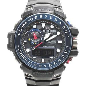 1円~【G-SHOCK】Gショック ガルフマスター GWN-1000B-1BJF タフソーラー メンズ腕時計 純正内外箱/保付き