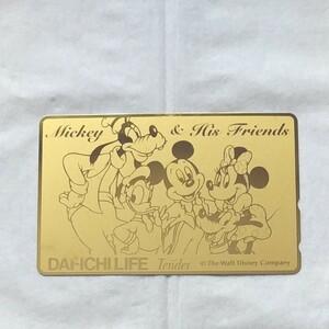 テレホンカード ミッキーマウス(ゴールド) 金色