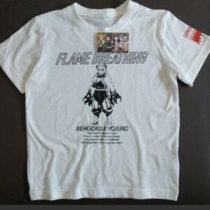 新品未使用 鬼滅の刃 半袖Tシャツ 煉獄杏寿郎130 炎柱 炎の呼吸 無限列車