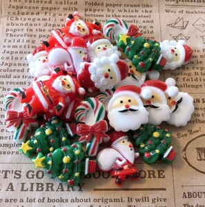 【期間限定】クリスマス24個 デコパーツ プラパーツ ハンドメイド アソート