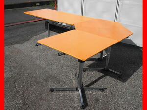 ★ 程度良好 USM kitos キトス ワークデスク 3点セット W1500 D750メインデスク コーナーテーブル サイドテーブル