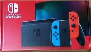 【新品未開封】任天堂 Nintendo Switch 本体 (ニンテンドースイッチ) Joy-Con(L) ネオンブルー/(R) ネオンレッド 新モデル【送料無料】